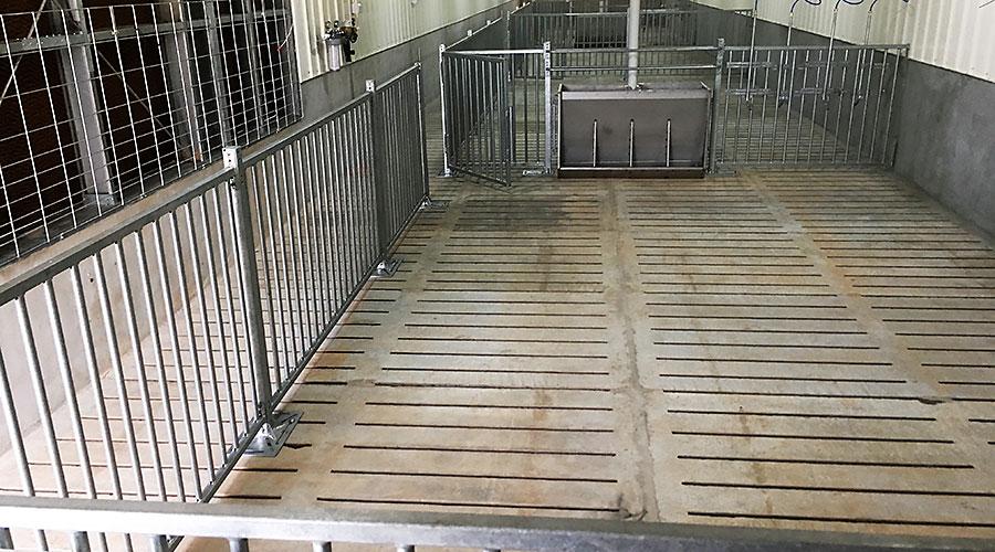 Slatted concrete floor