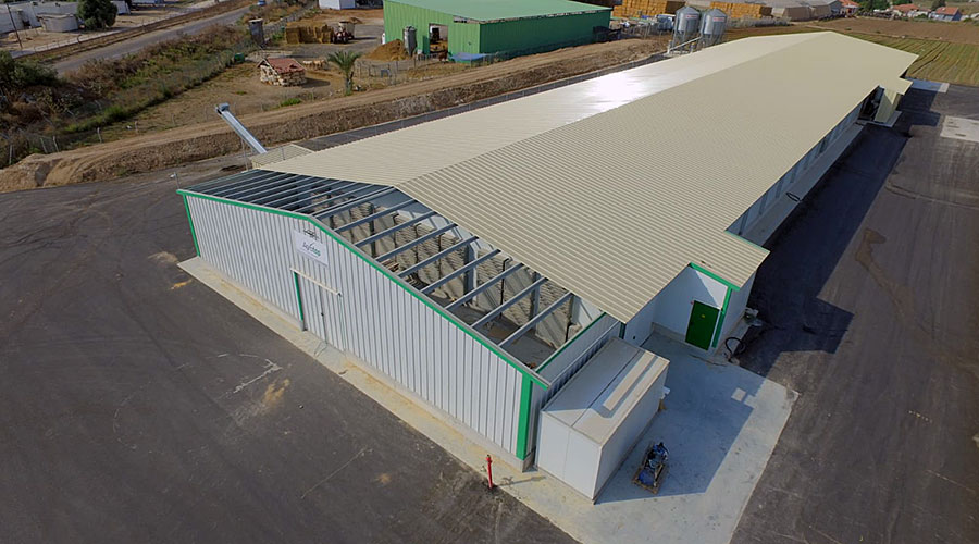 Aerial view of the new poultry house